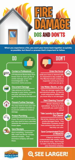 Fire Damage Do's and Don'ts Infographic