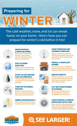 Prepare your home for winter Infographic