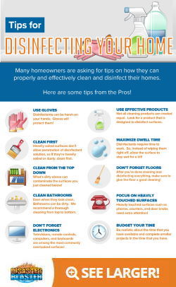 Tips for Disinfecting Your Home Infographic