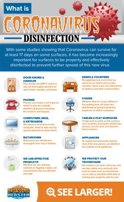 What is Coronavirus Disinfection Infographic