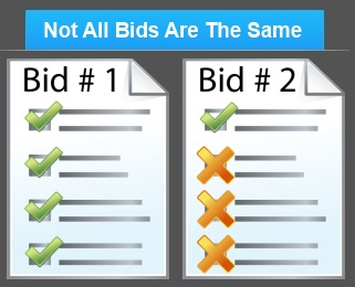 Not all bids are the same