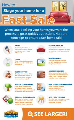 Stage your home for a fast sale Infographic