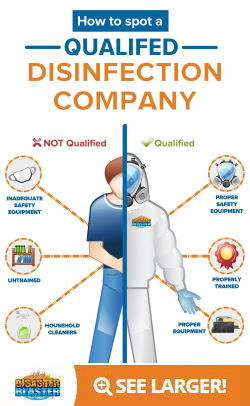 How to spot a qualified coronavirus disinfection company Infographic