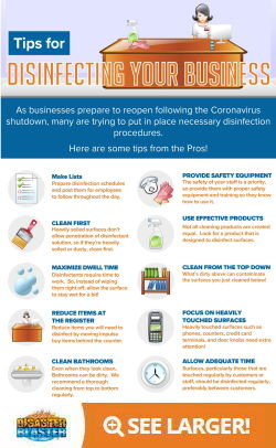 Tips for Disinfecting Your Business Infographic