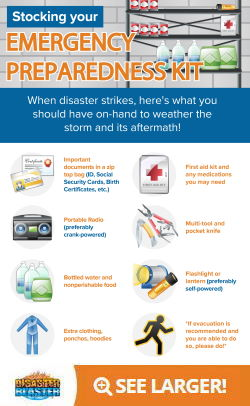 What should be in your emergency preparedness kit Infographic