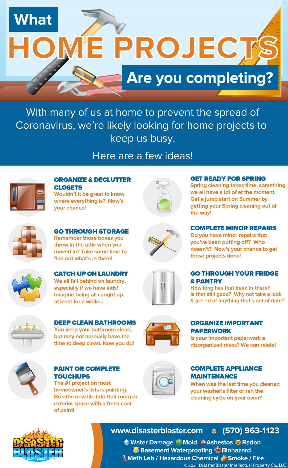 What home projects are you completing? infographic