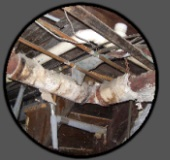 pipe wrap in basements asbestos is very commonly found in the form of
