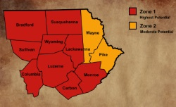 Radon Map of Northeastern Pennsylvania